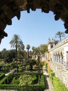 Sevilla, España: Gardens in the Alcazar