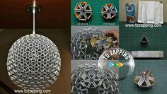 Cómo hacer lámpara hecha con bricks. Crea tu mismo una lámpara, recicla y adorna tus ambientes sin gastar un Euro. Lámpara con tetra bricks