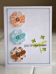 Washi Tape Petals Card