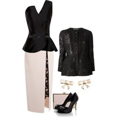 Lace & Bows, created by jcmp on Polyvore