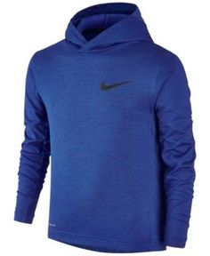 Nike Boys' Dri-fit Abstract Print Training Hoodie - Blue S