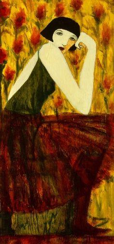 "nabiloou:  Cynthia Markert  (via Saatchi Online Artist: cynthia markert; Wood 2013 Painting ""The Audition"")"