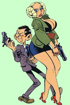 Agent 327 en Olga Lawina, tekening van Martin Lodewijk