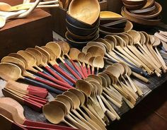 Carved Cooking Wooden spoon by Noble Woodcraft. by lotsofwoods