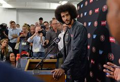 Photo               San Francisco 49ers quarterback Colin Kaepernick taking questions after the N.F.L. preseason game against the San Diego Chargers on Thursday.                                      Credit             Usa Today Sports/Reuters                       The continuing refusal by the...