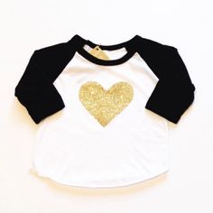Gold Heart Raglan from Stripes Boutique for $20.00 on Square Market