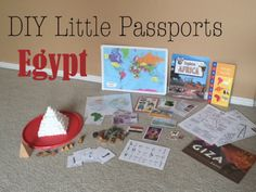 DIY Little Passports – Mostly Montessori Passports For Kids, Little Passports, Fun Learning, Learning Activities, Activities For Kids, Teaching Ideas, Geography For Kids, World Geography, Ancient Egypt Activities