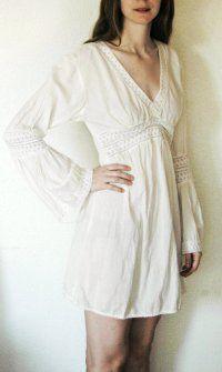 long sleeved, 1970's dress