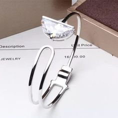 Find More Bangles Information about Designer Fashion 925 Sterling Silver Jewelry Platinum/Rose Gold Plated 3A Cubic Zirconia Bangle,High Quality jewelry bangle,China jewelry rice Suppliers, Cheap jewelry inspection from Perfect-Jewellery on Aliexpress.com
