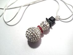Snowman Necklace Christmas Jewelry Holiday by FaithHopeInspire, $35.00