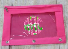 Hey, I found this really awesome Etsy listing at https://www.etsy.com/listing/241040151/lilly-pulitzer-monogrammed-pencil-pouch