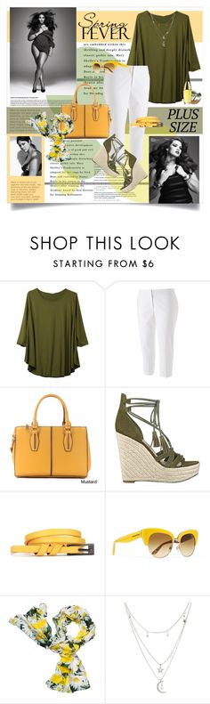 """""""Spring Date: Pretty Plus-Size Style"""" by lenochca ❤ liked on Polyvore featuring Apt. 9, Tara Lynn, American Apparel, GUESS, Dolce&Gabbana, Kate Spade, Charlotte Russe, Ashley Graham, Urban Decay and Estée Lauder"""