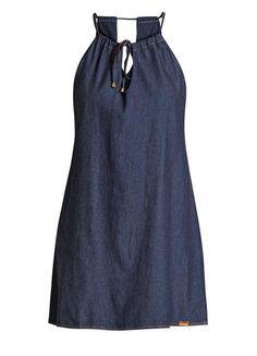 Vestido Reto Jeans com Tiras para Amarração - Posthaus
