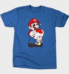 Mario Licking Toad T-Shirt - Super Mario Bros T-Shirt is $12 today at Busted Tees!