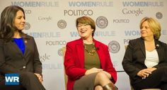 Sen. Amy Klobuchar (D-Minn., center) responds to a question. | Rod Lamkey Jr./POLITICO