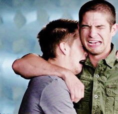 Tyler Posey and Dylan Sprayberry - Truth or Dare: Prove You Can Cry On Demand gif