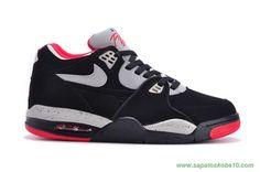 venda de tenis online Preto/Vermelho Leather Nike Air Flight 89 306252-022