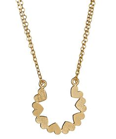 Emily Elizabeth Heart Horseshoe Necklace