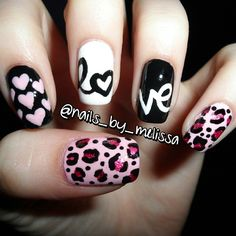 Instagram media by nails_by_melissa - Valentine's Day Nails! <3