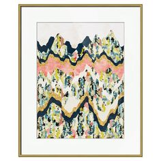 Equally at home in an artful collage or on its own as an eye-catching focal point, this artful framed print showcases an abstract landscape motif.