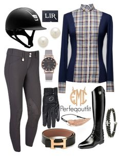 """Rainy weather ride"" by ponylover42 ❤ liked on Polyvore featuring Geneva, Kenneth Jay Lane, Hermès, Allurez and LeiVanKash"