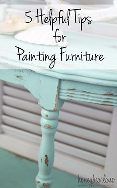 5 helpful tips for painting furniture