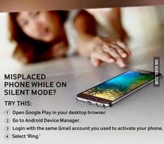 Find your cell phone on silent