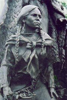 Sacagawea was a Shoshone woman who accompanied the expedition from the Mandan Villages on. Bronze sculpture by Eugene Daub, Clark's Point in Kansas City.