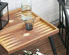 DIY table from old game board Old Games, Diy Table, Bath Caddy, Lifestyle Blog, Diy Ideas, Board, Vintage, Home, Ad Home