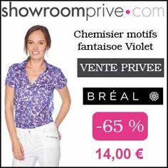 #missbonreduction; Vente privée : 65 % de réduction sur le Chemisier motifs fantaisoe Violet chez Showroomprive.http://www.miss-bon-reduction.fr//details-bon-reduction-Showroomprive-i853029-c1832804.html