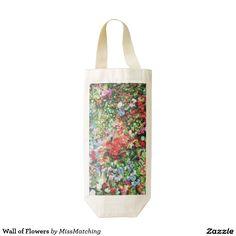 Wall of Flowers Zazzle HEART Wine Bag