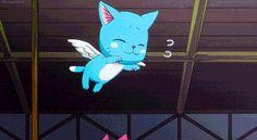 Happy, Natsu, gif, cute, young, childhood; Fairy Tail