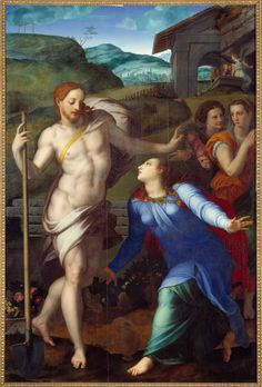 THE MALE NUDE IN RELIGIOUS PAINTINGS: Noli me tangere, Bronzino