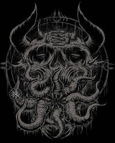 death metal artwork by blackdotx.deviantart.com on @DeviantArt