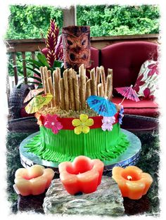 Luau cake by Sweet Confections Bakery.