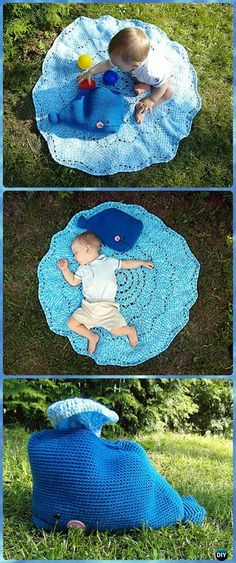 Crochet Willy the Whale Splish-Splash Blanket Free Pattern - #Crochet Crochet Summer Blanket Free Patterns