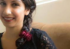 rose hairband DIY - perfect for a side braid