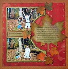 Ideas for Scrapbookers: Leaf Template Tutorial