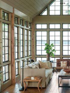 Love this enclosed porch