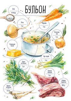 Russia Food, Keto Diet For Vegetarians, Healthy Dinner Recipes, Cooking Recipes, Recipe Drawing, Watercolor Food, Good Food, Yummy Food, Food Painting