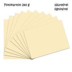 Fotokarton creme A4 - 10 Bogen - 240g