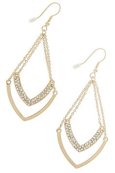 Brinn Chevron Dangle Earrings by Miss Frosting