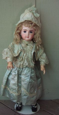 """RARE 23"""" AT by Thuiller Circa 1888 - Antique Doll w/Stunning Couture Dress - Layaway"""