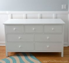 Learn how to build an extra-wide dresser. FREE plans and easy-to-follow tutorial at Ana-White.com