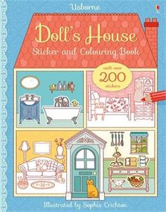 Book Doll's House Sticker And Colouring Book by Abigail Wheatley