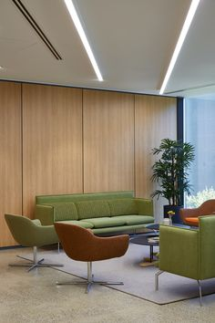 BRM Projects has designed the new offices of law firm KCL Law, located in Melbourne, Australia. Modular Lounges, Modular Sofa, Office Sofa, Office Furniture Design, Wood Sofa, Sofa Design, Wood Wall, Melbourne, Law