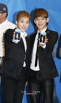 140701 Incheon Asian Games Press Conference ~ Minseok x Jongdae