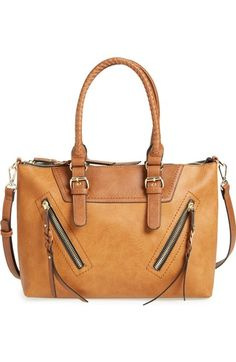 0ad590bc6f8 Sole Society  Girard  Zip Detail Satchel available at  Nordstrom Brown  Bags