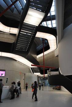 MAXXI Modern art museum in Rome designed by Zaha Hadid