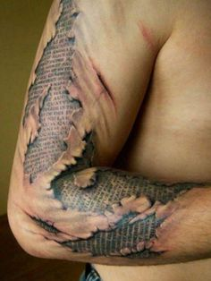 Awesome tattoo, could be infused with scripture instead.